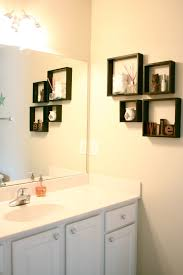 bathroom wall mount cabinet display shelf ideas tier glass rack mounted light brown maple wood storage