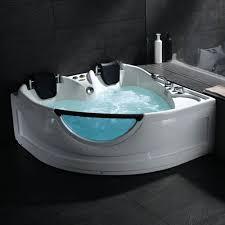 whirlpool tub in white