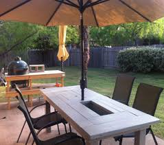 diy outdoor table with cooler. Simple Diy Patio Table With Builtin BeerWine Coolers On Diy Outdoor With Cooler E