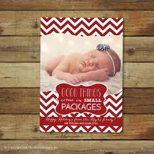 Christmas Card Holiday Photo Card Christmas Birth Announcement