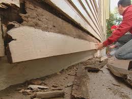 wood siding repair. Drive Existing Nails Through Rotted Siding Wood Repair