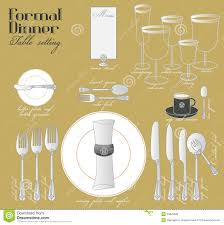 Setting A Dinner Table Formal Dinner Table Setting Stock Photo Image 54629489