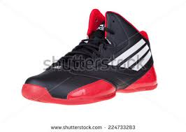 adidas basketball shoes 2014. varna , bulgaria - october 16, 2014 :adidas 3 series shoes. isolated adidas basketball shoes