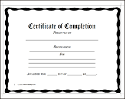 Certificate Of Completeion Free Printable Certificates Completion 255