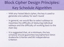 Block Cipher Design Principles Ppt Cryptography And Network Security Powerpoint