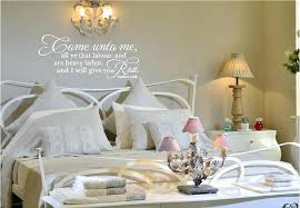wall sayings for bedroom come unto me vinyl wall quotes bedroom vinyl wall quotes for master bedroom