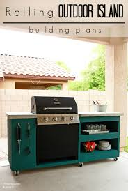 Diy Rolling Kitchen Island Diy Rolling Outdoor Kitchen Building Plans This Is Exactly What