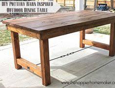 diy outdoor table. DIY Pottery Barn Inspired Dining Table Diy Outdoor A