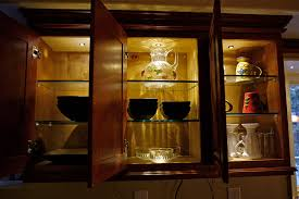 glass cabinet lighting. Kitchen Lighting: Use DEKOR™ LED Recessed Down Lights Inside Cabinets Glass Cabinet Lighting