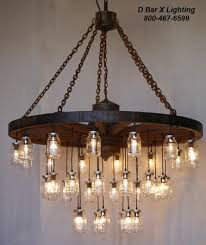 Image Diy 60inch Diameter Wagon Wheel Mason Jar Chandelier Light Fixture With 35 Lights Bar Rustic Lighting Ww755 Rustic Wagon Wheel Chandelier Light Fixture With Hanging