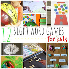 Activities Word 12 Sight Word Games And Activities For Kids