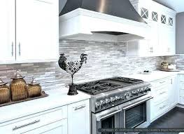 Tile Backsplash Ideas For White Cabinets Interesting Antique White Kitchen Backsplash Ideas White Kitchen Ideas Grey And