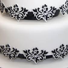 blossom scroll cake stencil