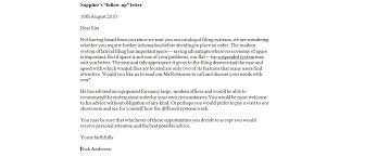 Folow Up Letter Business Letter Samples Effective Follow Up Letters