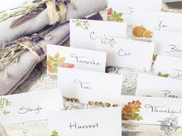 Fall Place Cards 12 Printable Fall Place Cards Diy House Beautiful