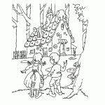 Hans En Grietje Kleurplaat Kleurplaat Voor Kinderen