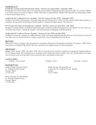 Glamorous Student Resume Example Curriculum Vitae