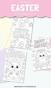You may want to try different colors of. Printable Easter Cards To Colour Messy Little Monster