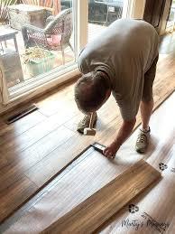 install laminate flooring over concrete slab wood carpet
