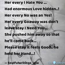 Her Every I Hate You Quotes Writings By Alia Fathima
