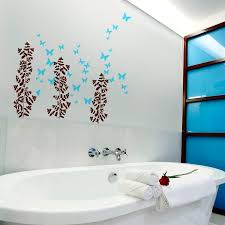 image of wall decor for small bathroom plan