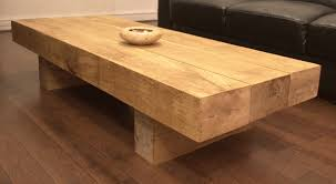 luxury hand crafted oak coffee tables railway sleeper