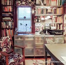9 easy creative ways to hide clutter on shelves ikea besta cabinet glass doors ikea besta cabinet glass doors