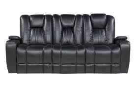 Vega Black Power Sofa