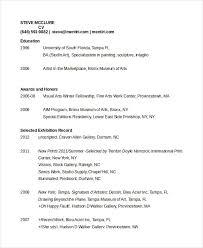Artist Cv Template Job Resume Pdf All Best Cv Resume Ideas