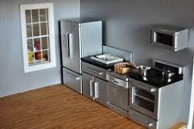 dollhouse kitchen furniture. Set Of Kitchen Furniture Designed For The Doll House. It Includes Fridge,  Sink, Dollhouse H