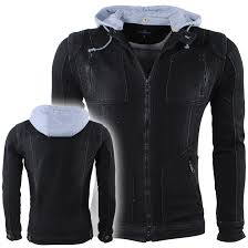 sku bv 3343 hite couture men denim jacket hooded