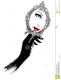 fancy hand mirror drawing. hand holding mirror drawing. royaltyfree vector drawing n fancy