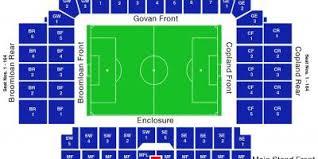 Ibrox Stadium Map Map Of Ibrox Stadium Scotland Uk
