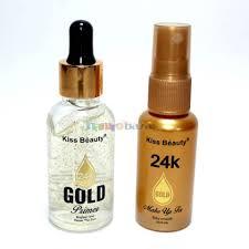 kiss beauty 2 in 1 24k gold primer makeup fixer