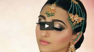 ivory smokey eye with glitter tradtional stani indian asian arabic bridal makeup nayyar khan on vimeo
