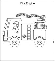 Small Picture Ladder And Fire Truck Printable Coloring Page Fire Truck Coloring