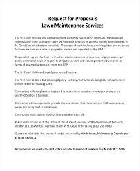 Lawn Care Proposal Bid Sheet Maintenance Template Free