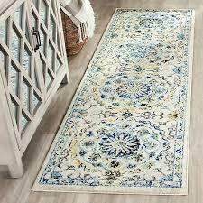 safavieh evoke vintage ivory blue distressed rug 2 2 x 7