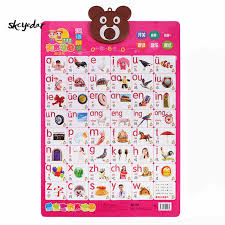 3d Embossed Pvc High Quality Early Education Audio Wall Charts For Kids Study Chinese 16 5x22 8 In Pinyin Chinese Characters
