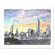 new york city skyline wall art poster new york city skyline wall decor  on new york city skyline wall art with new york city skyline word art print art of words