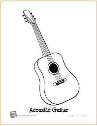 Small Picture Acoustic Guitar Free Printable Coloring Page