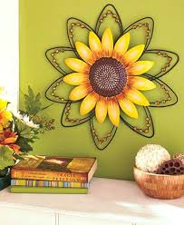 amazing sunflower wall decor interior designing art metal wire hanging sculpture home room decorating for kitchen
