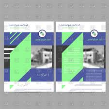 annual report leaflet brochure flyer template vector image  annual report leaflet brochure flyer template click to zoom