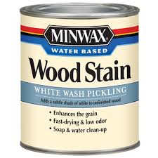 Paint Wash On Wood Minwax 1 Qt White Wash Pickling Water Based Stain 61860 The