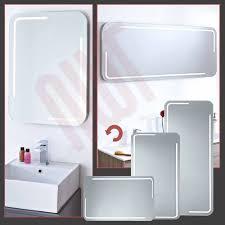 Demister Bathroom Mirrors Designer Led Strip Bathroom Mirrors Infrared Sensor Heat Demist