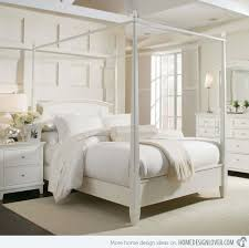 Fancy White Four Poster Bed Modest Design 15 Simple Four Poster Canopy Beds