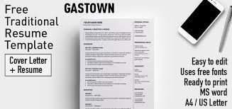 E Resume 2 Cool Gastown Free Traditional Resume Template