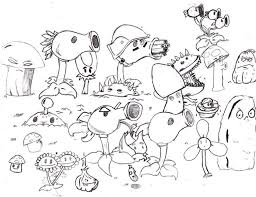 Free Coloring Pages Plants Vs Zombies Classic Style Plants Vs