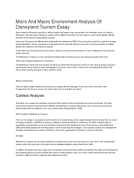 micro and macro environment analysis of disneyland tourism essay micro and macro environment analysis of disneyland tourism essay disneyland walt disney parks and resorts