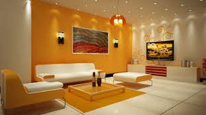 Living Room:Foxy Living Room With Modern Orange Color Scheme And Minimalist  Furnishings Foxy Living